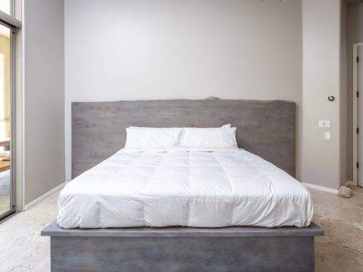 Cedar Headboard & Bed Frame With Grey Wash
