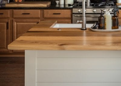Reclaimed Mixed Hardwood Kitchen Island