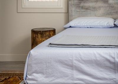 Mixed Hardwood Bed Frame With Custom Finish