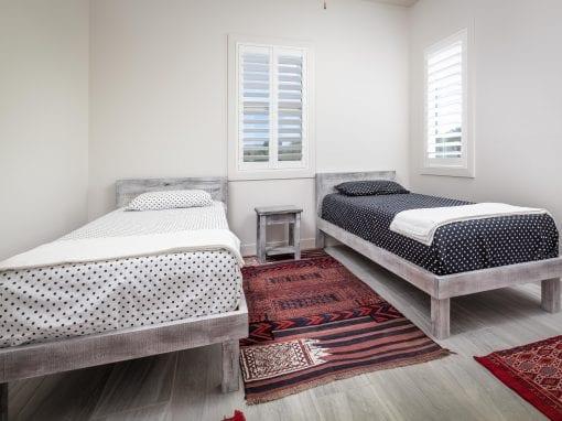 Mixed Hardwood Twin Beds & Nightstand