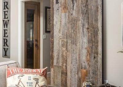 Vertical Plank Tobacco Grey Sliding Door