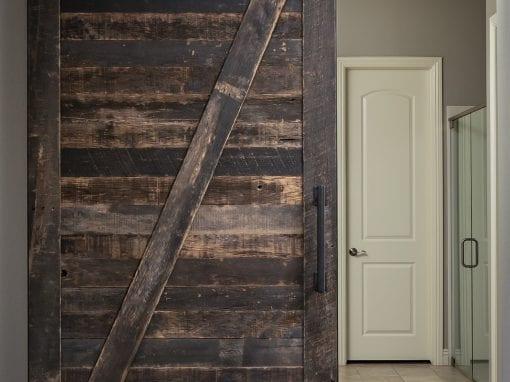 Master Bedroom Speckled Black Sliding Door