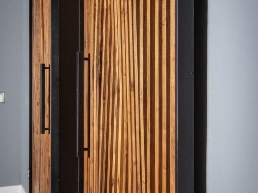 Parametric Walnut Bi-Part Doors