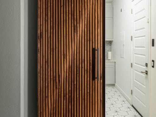 Walnut Parametric Laundry Door