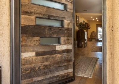 Reclaimed Wood Pivot Door