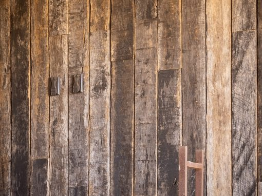 Outdoor Speckled Black Wood Wall