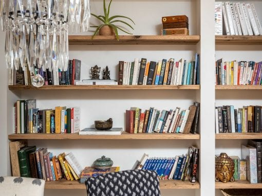 Reclaimed Wood Bookcase shelving