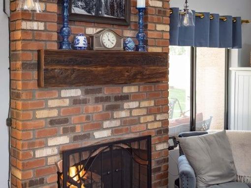 Brick Niche Mushroom Wood Box Mantel