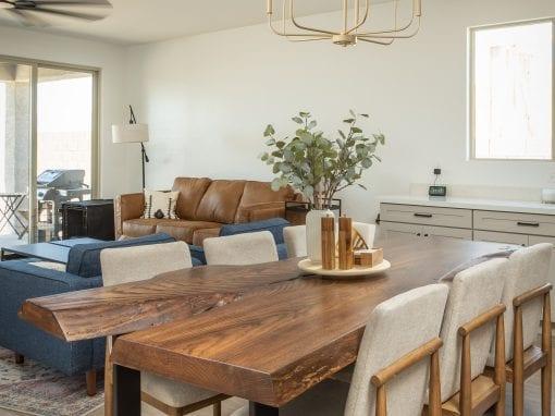 Modern Live Edge Oak Dining Table