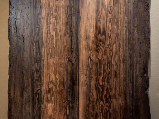 Ponderosa Pine Live Edge Bi-Part Doors