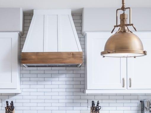 Custom Kitchen Hood & Live Edge Cedar Shelves