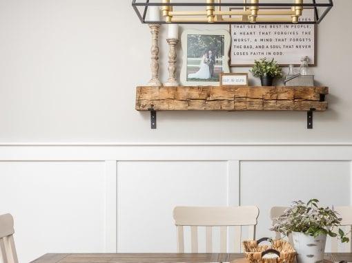 Reclaimed Dining Room Mantel