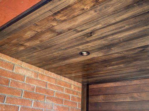 Walnut Entryway Ceiling