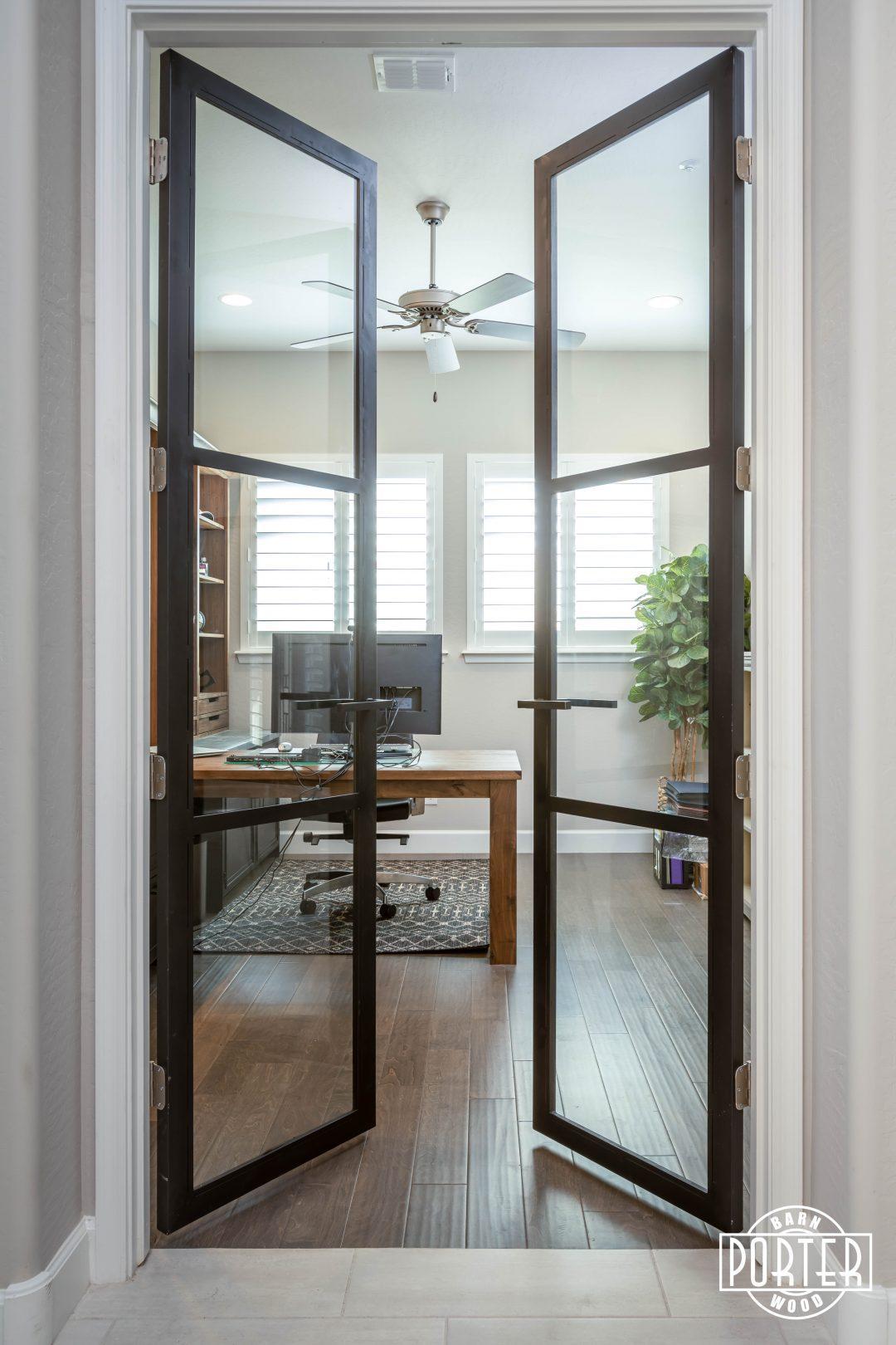 Home Office Steel Double Doors