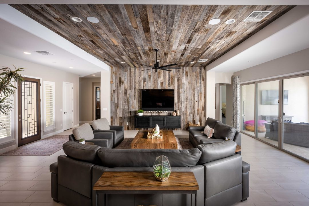 TBG Waterfall Ceiling & Floating Cabinet