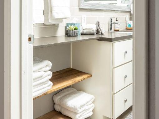 Reclaimed Bathroom Shelves