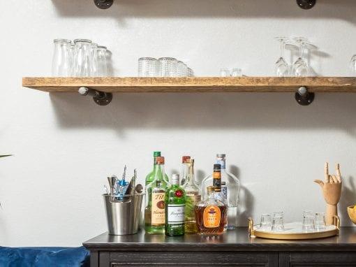 Reclaimed Dining Room Shelves
