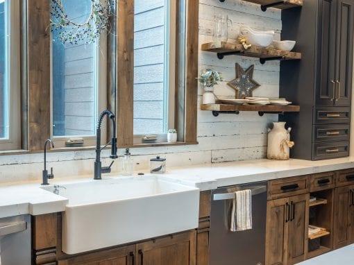 Speckled White Kitchen Backsplash